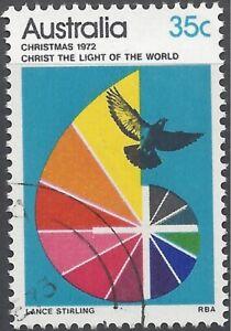 Australia 1972 35c Christmas (Bird), Very Fine Used (CTO, no gum) SG 531