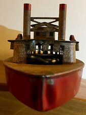 Steam Powered Paddle Wheel Tin Toy Boat