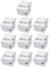 (Lot of 10) Epson TM-T88IV POS Thermal Printer, Cool White, USB Interface