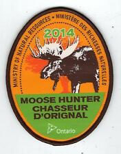 2014 ONTARIO MNR MOOSE HUNTER PATCH-MICHIGAN DNR DEER-BEAR-ELK-CREST-BADGE-FISH