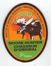 2014 ONTARIO MNR MOOSE HUNTER PATCH-MICHIGAN DNR DEER-BEAR-ELK-CREST-BADGE-FISH
