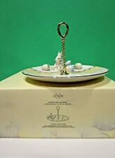 Lenox Occasions Easter Bunny Handled Server New in Box Rabbit Egg
