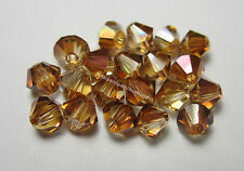 20 New Genuine Swarovski Crystal Copper Bicone #5301 Beads 4mm for Jewellery