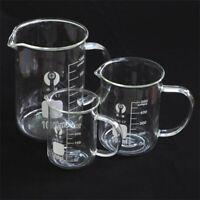 100-1000ML Chemistry Beaker Borosilicate Cylinder Measuring Glass Lab glassware