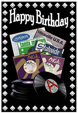 NORTHERN SOUL (RECORD LABELS)  BIRTHDAY CARD - GLOSS FINISH - BRAND NEW