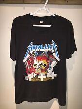 Vintage 80s Metallica Cliff Burton Metal Up Your Ass Tour Concert Band Tee Shirt