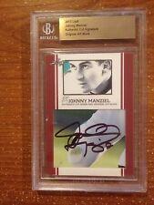 Johnny Manziel Auto 2013 Leaf Cut Signature Sketch Card Authentic PSA/DNA