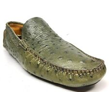 Sz. 42 SIMONE MARIOTTI Green Driving Loafers, Made In ITALY