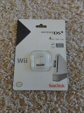 SanDisk 4GB Nintendo DSi Wii (SDHC) Memory Card NEW SEALED - Free Shipping