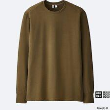 LEMAIRE 'U' x UNIQLO 'Performance DRY' L/S Designer T-Shirt Men's M Khaki *NWT*