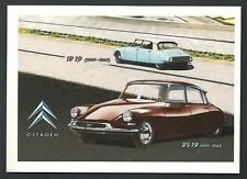 Citroen DS 19 (1955 - 1968) - riproduzione su cartolina di pubblicità d'epoca
