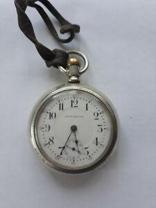 ANTIQUE 18S 15 JEWEL SETH THOMAS SILVERODE POCKET WATCH