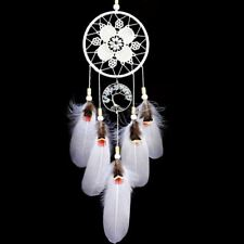 Indian Dream Catcher Handmade Tree of Life Dream Catchers with Feathers Wal I9X2