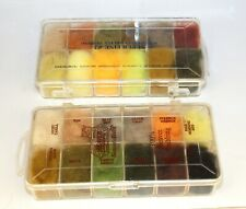 Uncle Jacks superfine Natural super fine dry-fly Fur Dubbing Boxes  24 colours