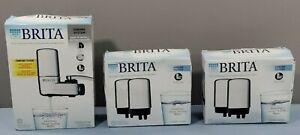 NEW LOT BRITA FAUCET FILTRATION CHROME SYSTEM SAFF-100 & 4 CHROME FILTERS FR-200