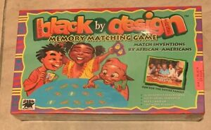 Black By Design African American Memory Matching Board Game NEW Sealed