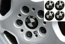Tapas para llantas BMW, efecto carbono negro 6,8cm, Centro de Rueda, Tapabujes