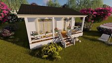 House Plans Build A TINY HOUSE One Bedroom Home Cottage Small Tiny Living on CD