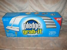 Sc Johnson Pledge Grab It Sweeper and 10 Dry Disposable Cloths Nib