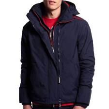 Superdry Between-seasons Jacket Men Tech Hood Pop Zip Windcheater Nautical Navy L