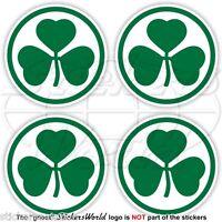 """IRELAND Irish Shamrock, Eire 50mm (2"""") Vinyl Bumper-Helmet Stickers, Decals x4"""