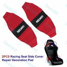 New 2pcs Jdm Recaro Racing Seat Red Side Cover Repair Decoration Pad Seat Racing