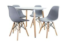 Conjunto de Mesa Wad 100 + 4 sillas Tower grises