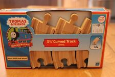 """Thomas & Friends Wooden Railway LC99908 3 1/2"""" Curved Track 90mm NIB Real Wood"""