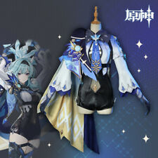 Genshin Auswirkungen Impact Spiel Game Eula Cosplay Kostüm Costume