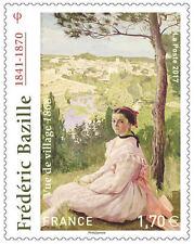 """TIMBRE 5122 NEUF XX  - Frédéric Bazille - 1841-1870 - Tableau """"Vue de village"""""""