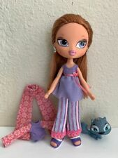 Girlz Bratz Kidz Sleep-Over Meygan Doll Red Hair Freckles Extra Clothes & Shoes