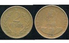 COLOMBIE 2 pesos  1980  ( bis )