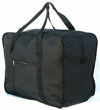 "24""  50LB. CAP.  SQUARE JUMBO BLACK DUFFLE/ CARGO BAG/ LUGGAGE / SUITCASE / TOTE"