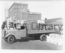 1936 Ford Medium Stake Truck, at Philadelphia dock, Factory Photo (Ref. # 43263)