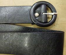 """Designer """"ANNI'80"""" La Moda Stile Skinny 2cm di Larghezza Cerchio Nero Fibbia Cintura"""