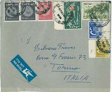 Monete-STORIA POSTALE Israele: Airmail copertura all' Italia 1955