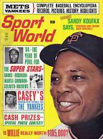 1964 (Jun) Sport World Magazine, Baseball,Willie Mays San Francisco Giants MARKS