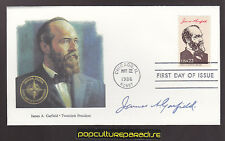 PRESIDENT JAMES A. GARFIELD First Day of Issue STAMP COVER FDC 1986 Fleetwood