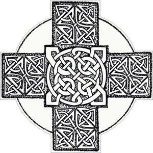 CELTIC CROSS VINYL STICKER BUMPER DECAL RELIGIOUS CAR BIKE MOTO KNOT DESIGN 07