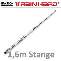 TrainHard® Smooth Chrom Langhantelstange 1,6m vollverchromt hohl