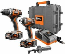Drill Driver Impact Kit Lithium Ion Variable Speed Cordless Hard Case Power Tool