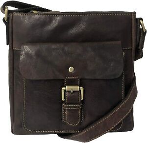 Rowallan Brown Leather Handbag, Shoulder Bag