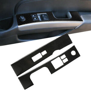Interior Window Lift Switch Panel Cover Trim Carbon Fiber For Nissan 350Z 06-09