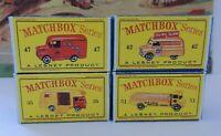 Matchbox Lesney / Special Lot 4 X empty Repro Box style variation