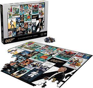 James Bond Movie Poster 1000 Piece Jigsaw Puzzle *NEW - FAST UK DISPATCH*