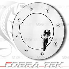 Cobra Tek For 2002-2004 Hummer H2 Key Lock Chrome Plated Aluminum Fuel Gas Door