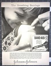 Life Magazine Ad JOHNSON & JOHNSON BAND-AID Sheer Strips 1961 Ad