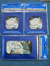 Design Tapetenschoner Tapetenschutz Wandschutz transparent/blau Sortiment 1