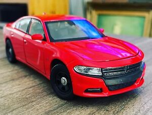1/24 WELLY 1/27 DODGE CHARGER FIRE RED: Loose -Mint With Wheel Upgrade