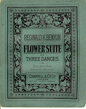 SHEET MUSIC - FLOWER SUITE OF THREE DANCES - REGINALD K. BENYON - CHAPPELL(1902)